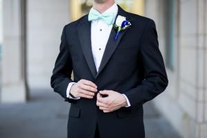 Groom in tuxedo