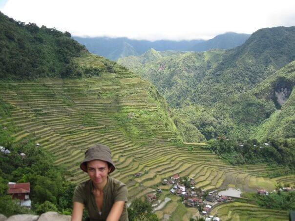 Llegada a los arrozales de Banaue, Filipinas