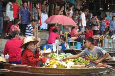 Visita al Mercado Flotante de Bangkok