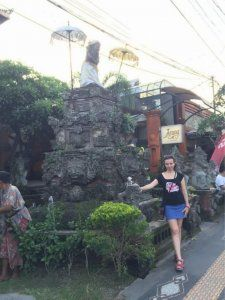 Streets in Ubud, Bali.