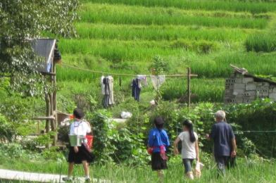 La tribu de los Karen en Chiang Mai, Tailandia.