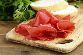 Bresaola. Gastronomía Toscana