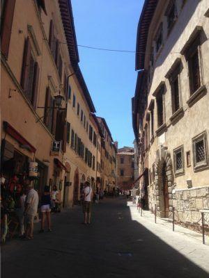 Montepulciano en la Toscana.