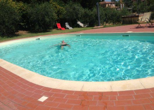 La piscina de nuestra casa rural, Sinalunga, La Toscana.