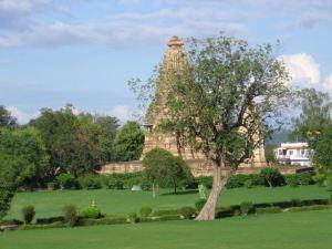 Los templos de Kajuraho son ideales para pasear.