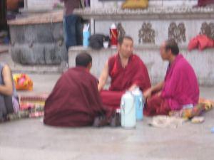 Monjes en Lhasa