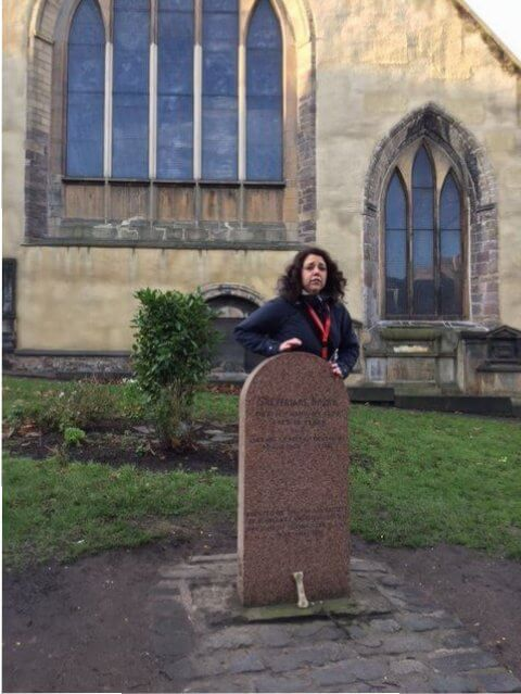 Homenaje a Bobby, Cementerio de Greyfriars, Edimburgo. Escocia.