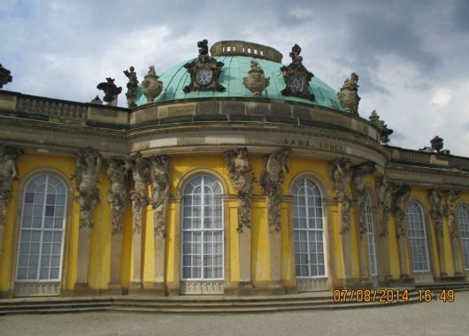 El palacio fue construido por Federico II el Grande, Rey de Prusia.