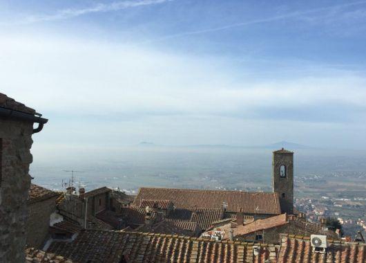 Vistas desde el Hotel Italia, Cortona