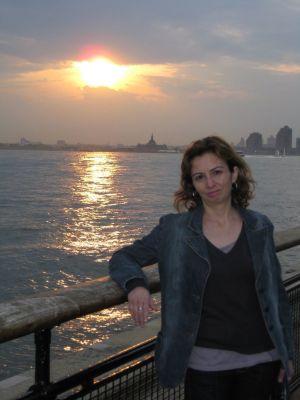 Puesta de sol en Manhattan, Nueva York