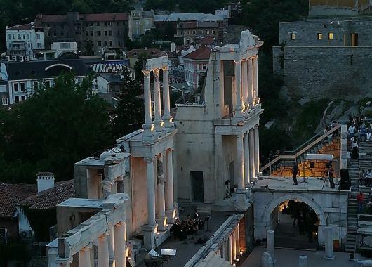 Plovdiv, concierto de ópera en el teatro romano