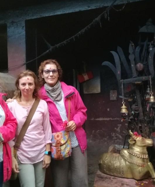 En un templo nepalí
