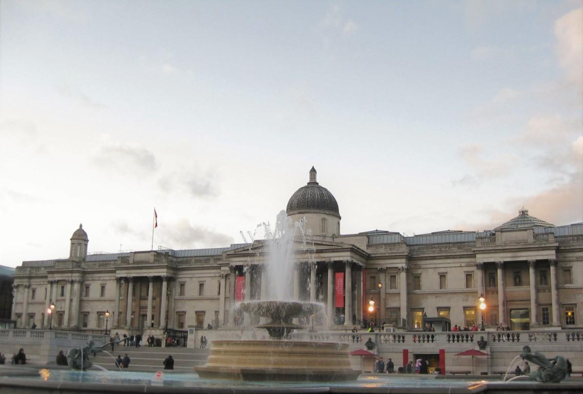 Trafalgar Square y la National Gallery