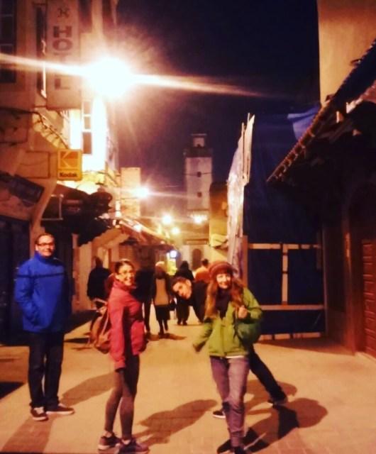 Essaouira, Marruecos, paseo nocturno