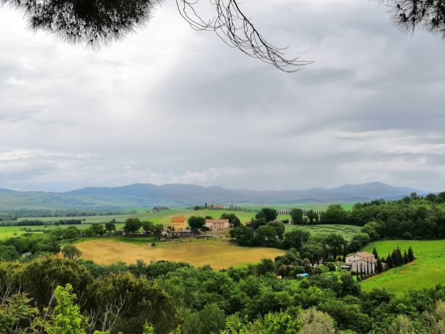 Paisajes de primavera en la Toscana