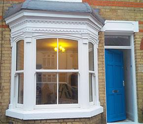 arched head bay window