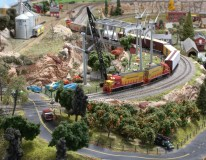 Photos - N Scale Layout - WESTERN SIERRA GP15-1's