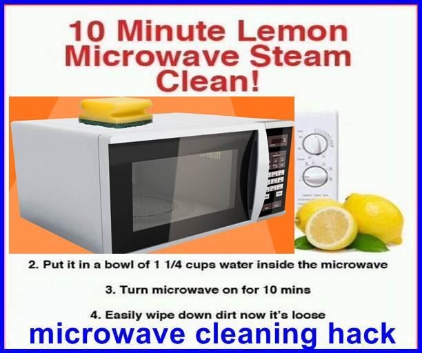 microwave cleaning hack lemon juice