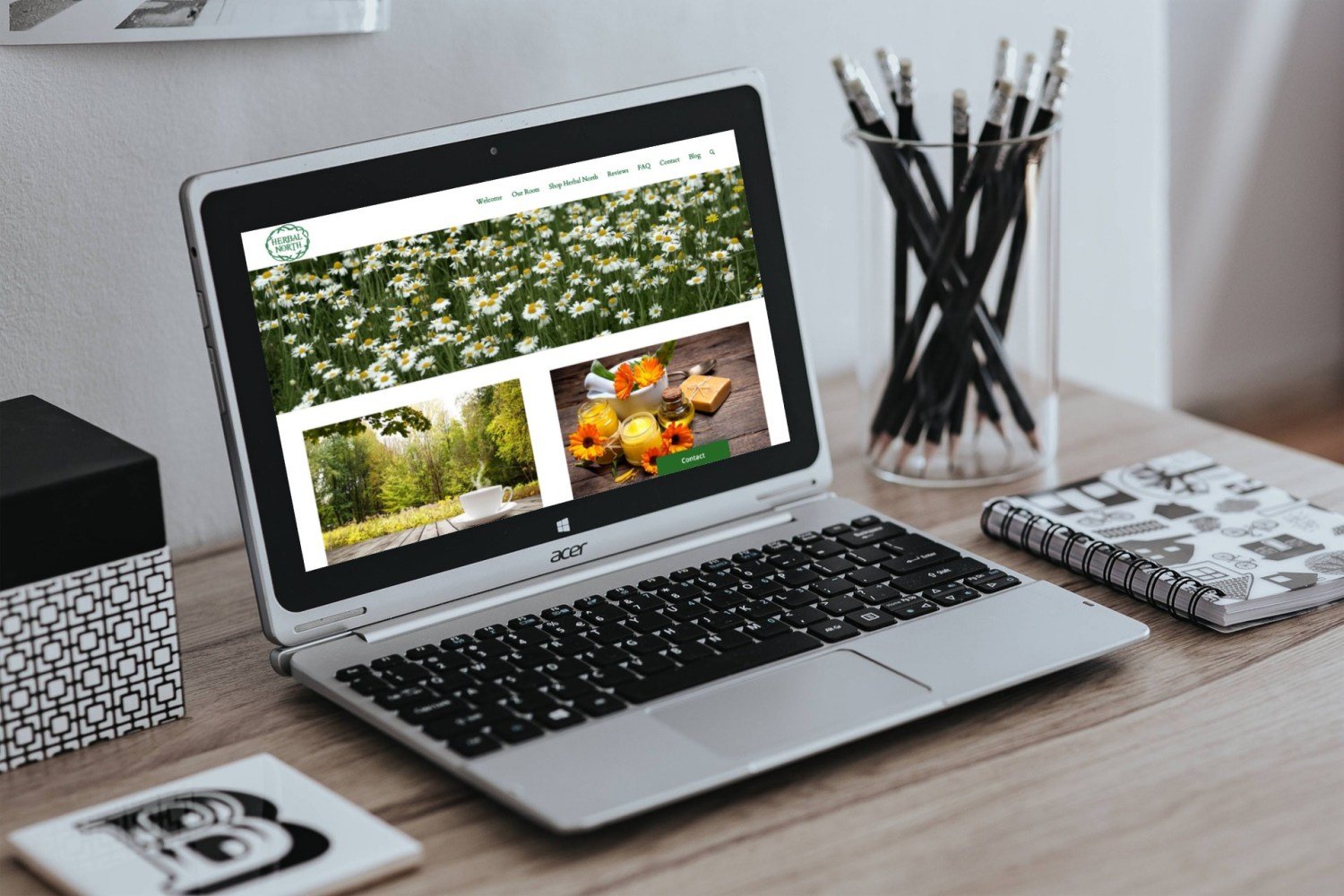 Herbal North - Web Design by Rosewood VA Newmarket