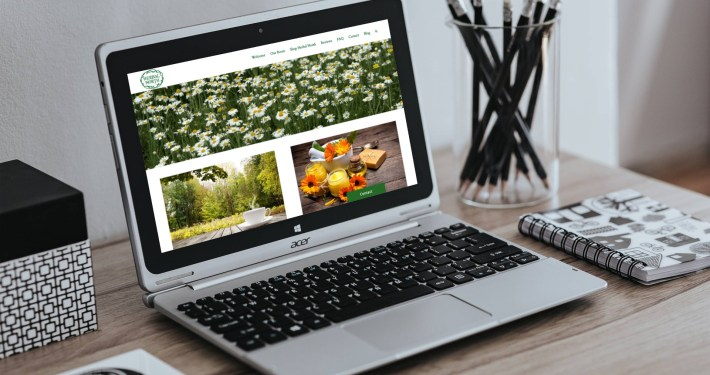Herbal North - Web Design by Rosewood VA Newmarket
