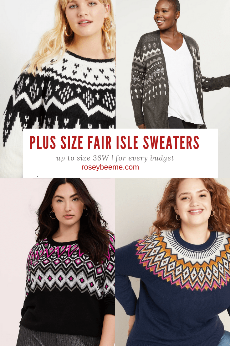 PLUS SIZE fAIR isle sweaters (2)
