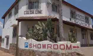 Colorline workshop and showroom, Ilakaka main street. Photo: Rosey Perkins