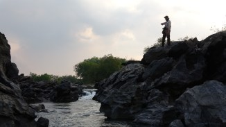 Vincent on Lugenda River. Photo: Rosey Perkins