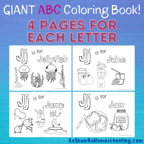 RoShamBo Homeschooling printable Giant ABC Coloring Book