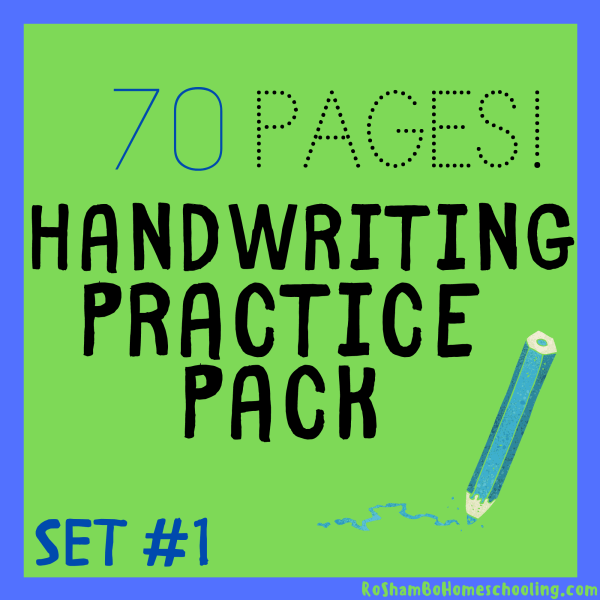 RoShamBo Homeschooling printable handwriting practice lowercase letters first 70 lessons