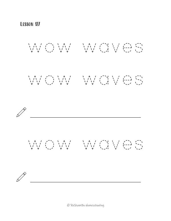 RoShamBo Homeschooling handwriting practice pack 2 sample