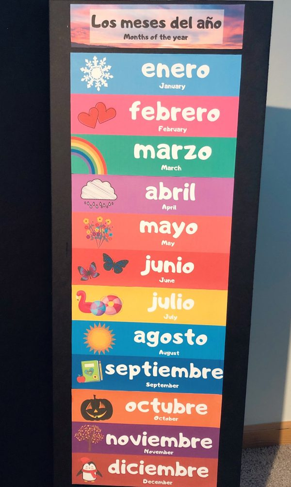 RoShamBo Homeschooling promo for a Circle Time Board in Spanish and English months of the year