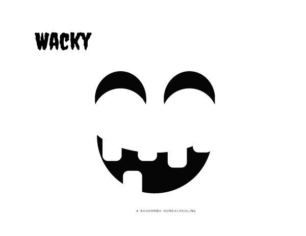 RoShamBo Homeschooling printable jack-o-lantern emojis for naming and identifying emotions on a pumpkin