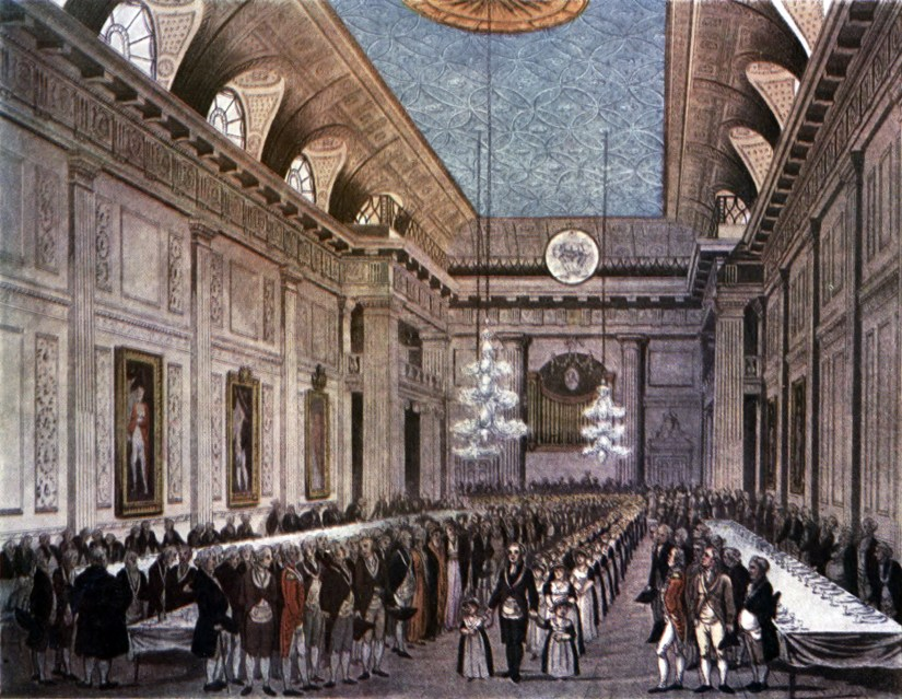 Freemasons' Hall, London, c. 1809