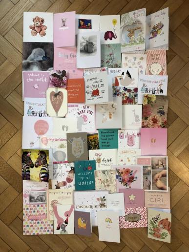 Baby welcome cards Ampthill doula