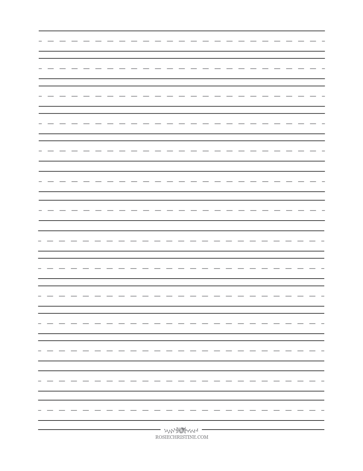 Cursive Blank Worksheets Rosie Christine