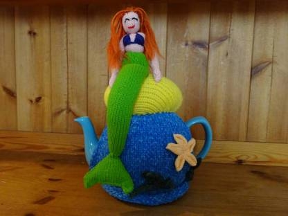 tea cosie knitted mermaid