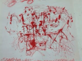 My first red ink drawing