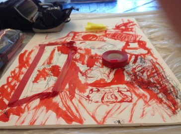 Firstsite artists residency drawing