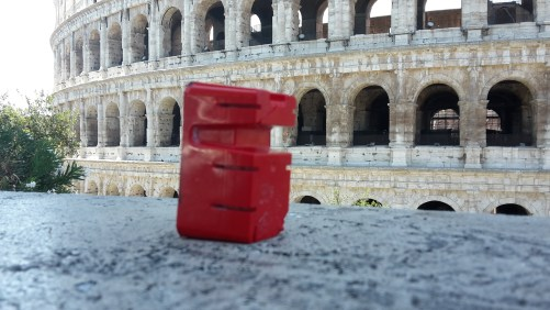 Red figure and the Colosseum