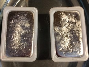The melted down alloy metal in my ink cartridge containers