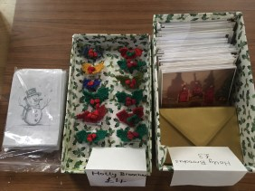 Christmas cards and my mums decorations for sale