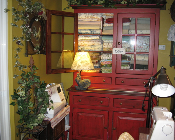 My Red Hutch in fabric mode.