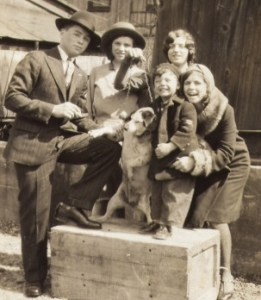 My father and three of his sisters, ca 1929