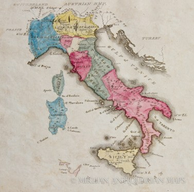 19th century Italy, via  Miklian Maps