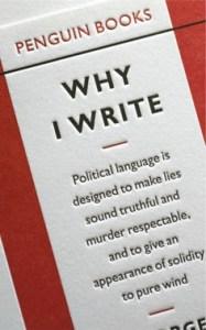 Orwell. Why I Write.