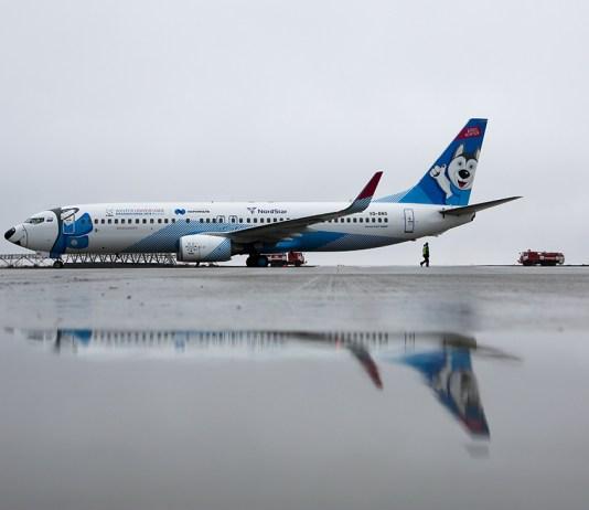 Боинг 737-800G, NordStar, самолет, аэропорт, авиакомпания