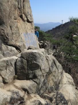 Rock scrambling Gwanaksan