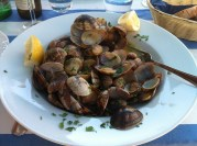 Italian food: vongole (clams)