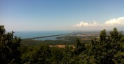 View of Lake Sabaudia from Mount Circeo
