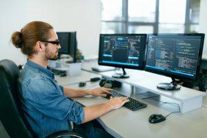 background music platform software engineer at work